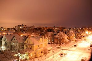 Bensonhurst in the Snow by kaitou-ace