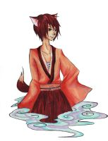 Art Trade: OC Fox Spirit by xxmidnitexx