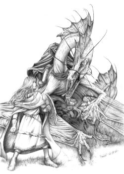 Eowyn and the Witch King by Apsaravis