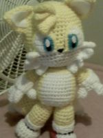 Crochet Tails doll plush by EndlessBlueSky