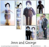Jenn and George Plushies by SoandSewPlushies