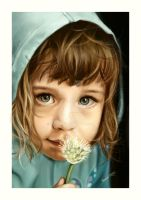 Portrait of a little girl by Saarl