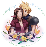 Cloud and Aeris for Kit by cactuar