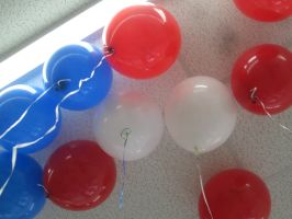Another set of Red White and Blue balloons by mylesterlucky7