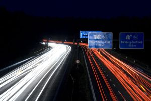 Autobahn at night by Yve-TWN