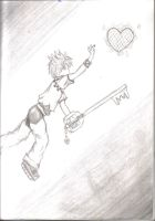 Roxas Black and White by SaphyreMelodies