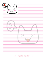 Bunny_notepaper_x3 by Saiyoto
