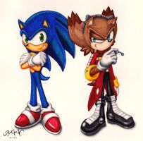 Ivo and Sonic by RAWN89