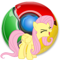 Chrome icon - fluttershy by spikeslashrarity