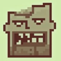 Zombie pixel face by Linebeckart