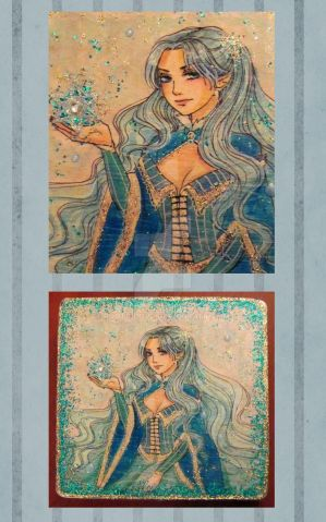 Winter Sorceress- SOLD by Roots-Love