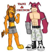 Tani and Crunch by Tammy-Dingodile