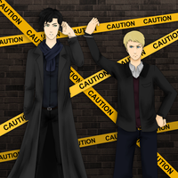 Caution: John and Sherlock by lerysakon