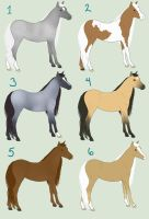 Free Mini Horse Adoptables by HideawayArtist