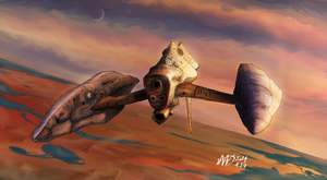 Warbird at twilight by Waffle0708