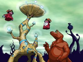 Orko and Montork on Trolla by mct421
