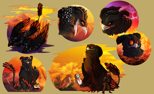 Damien - Character Page (Art Trade) - Fable by royrpg