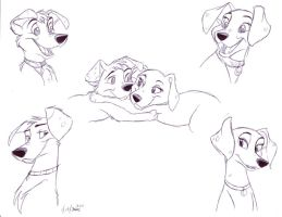 Jonathan and Bianca pups by Stray-Sketches