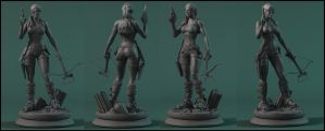 Tomb Raider Commission sculpt by AYsculpture