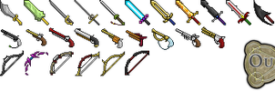 Ouroboros weapons icons by mmarmottee