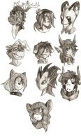 Head Shot Commishes by Silent-DownPour