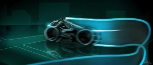 TRON Legacy Lightcycle by helioart
