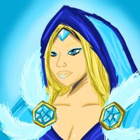 Crystal Maiden - ice is nice by DarkRavage