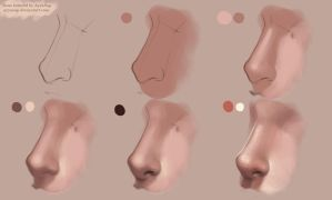 Nose Tutorial Photoshop by AyyaSAP