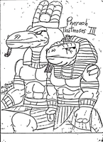 Pharaoh Thutmoses III and Amon by reg92