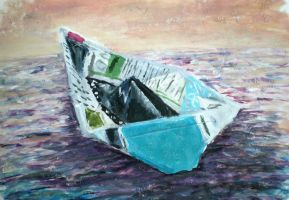 Just a Paper Boat by ichabod1799