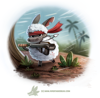 Daily Paint #1260. Lambo by Cryptid-Creations