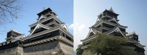 Kumamoto Castle - Back and Front by Lissou-photography