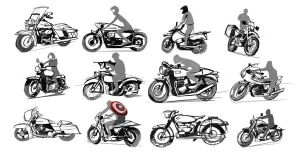 Bike sketches by hision