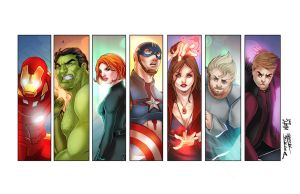 Avengers Print by WhitneyCook