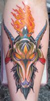 Goat Head by TattooElvis