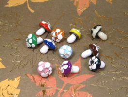 Charms: Mushrooms by kitcat4056