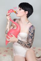 Every girl loves a flamingo by MissSorryPhotography