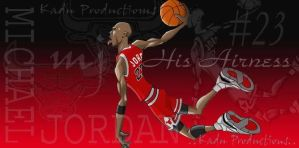 Animated Michael Jordan by Kadu-Productions