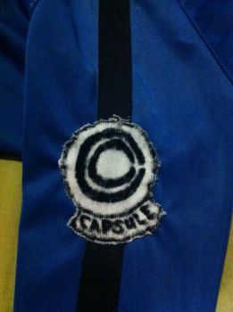 Future Trunks cosplay capsule corp logo! by ReinandRich
