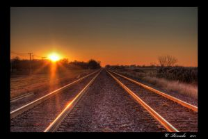 Railway to the sun by DarkWolf1989