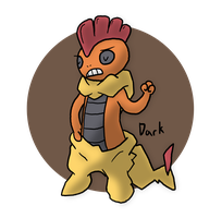 Pokeddex Day 17 - Scrafty by Kame-Ghost