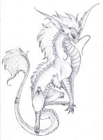Ballpoint Dragon by talonsofchaos