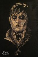 Barnabas Collins Woodcut Portrait by ska25