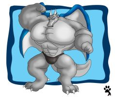 Buff Gray Dragon by Big-Wolf