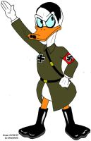 Adolf Hitler as a duck by Shenziholic
