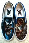 Venom Spiderman Shoes by JordanMendenhall