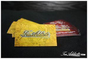 Tee Addicts Business Cards by motion-attack