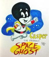 Casper, The Friendly Space Ghost by BezerroBizarro