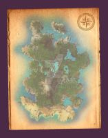 Fantasy Map by JadeGordon