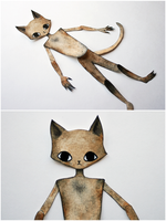 Cat Paper Doll WIP by beyourpet